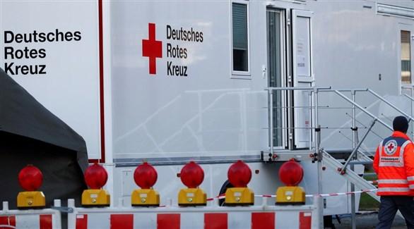 مركز صحي متنقل للصليب الأحمر الألماني لكشف الإصابات بكورونا (أرشيف)