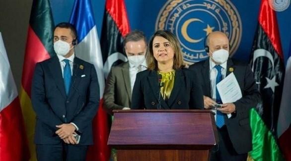 وزيرة الخارجية الليبية نجلاء المنقوش (أرشيف)