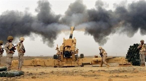 مدفعية الجيش اليمني تقصف مواقع حوثية (أرشيف)