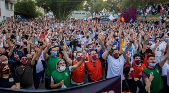 محتجون من القبارصة الأتراك (أرشيف)