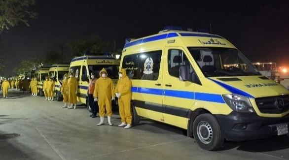 أطقم طبية مصرية مختصة بمكافحة كورونا (أرشيف)