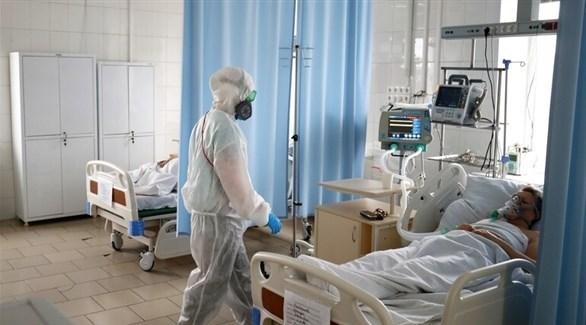مصابون بكورونا في أحد المستشفيات الروسية (أرشيف)