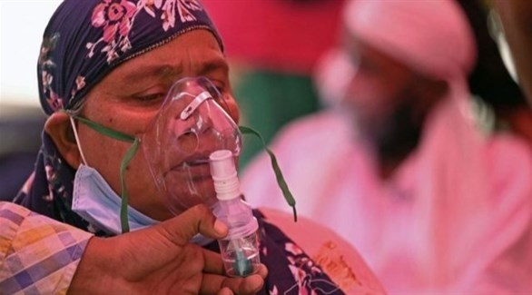 مصابة بكورونا في الهند (أرشيف)