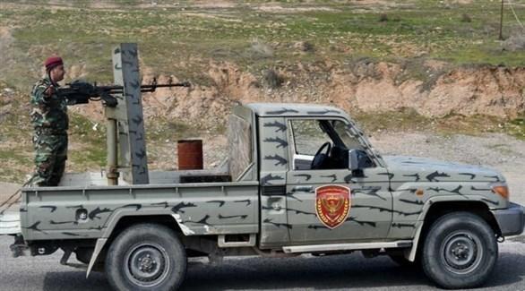 أحد عناصر قوات البيشمركة الكردية (أ ف ب)
