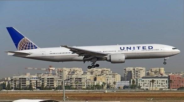 طائرة من أسطول يونايتد ايرلاينز الأمريكية في مطار بنو غوريون بتل أبيب (أرشيف)