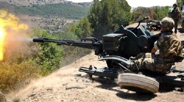 عناصر في الجيش الجزائري خلال حملة لمكافحة الإرهاب(أرشيف)