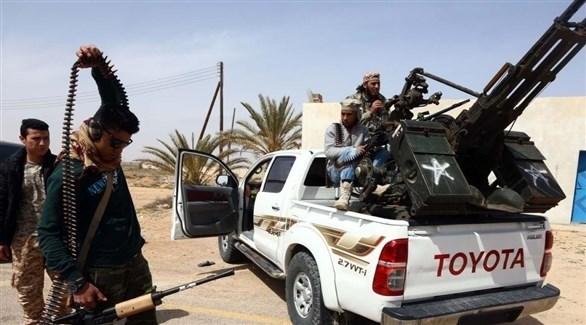 مسلحون من إحدى الميليشيات في ليبيا (أرشيف)