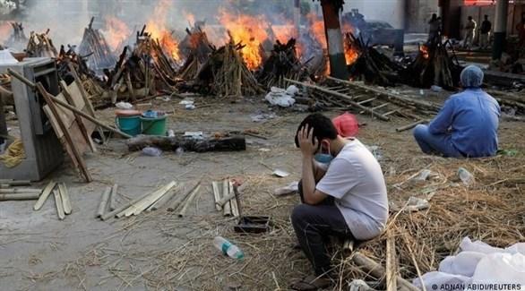 حرق موتى كورونا في الهند (أرشيف)