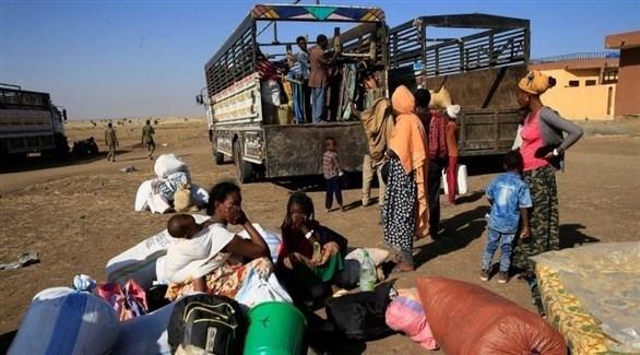 لاجئون من تيغراي في الطريق إلى السودان المجاور (أرشيف)
