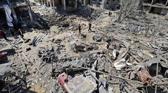 بيوت مدمرة في غزة جراء القصف الإسرائيلي (أرشيف)
