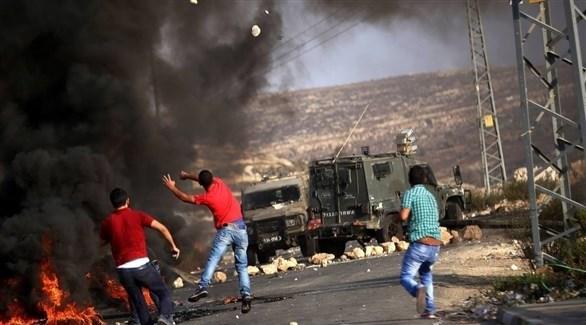 مواجهات بين شبان فلسطينيين وقوات إسرائيلية في الضفة (أرشيف)