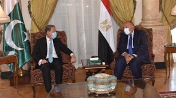 وزير الخارجية المصري سامح شكري ونظيره الباكستاني شاه قريشي (أرشيف)