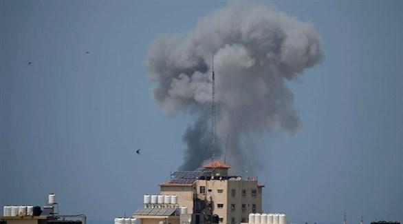 قصف إسرائيلي على مواقع في قطاع غزة (أرشيف)