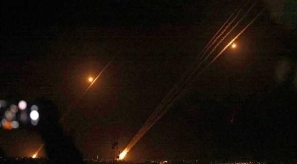 إطلاق صواريخ من غزة على إسرائيل (أ ف ب)