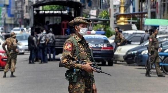 عناصر في جيش ميانمار (أرشيف)