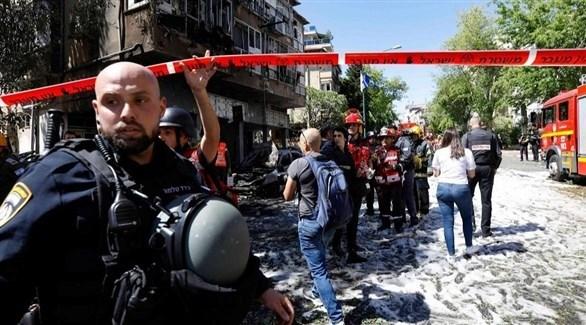 سقوط صاروخ في تل أبيب (أرشيف)