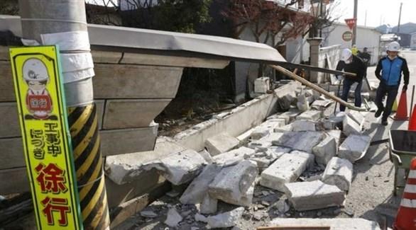 دمار جراء زلزال ضرب اليابان في وقت سابق (رويترز)
