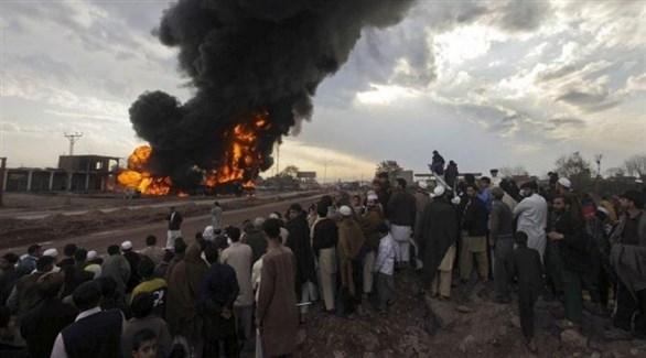 حريق في شاحنات لنقل الوقود في كابول(أرشيف)