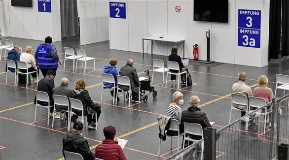مركز لإعطاء لقاحات ضد كورونا في ألمانيا (أرشيف)