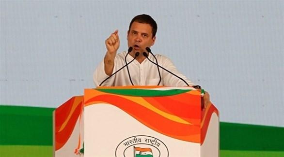 زعيم المعارضة الهندية راهول غاندي (أرشيف)