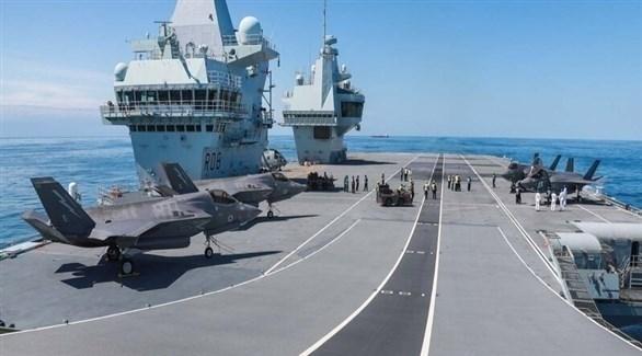 حاملة السفن البريطانية الأحدث أتش أم أس كوين إليزابيث (أرشيف)