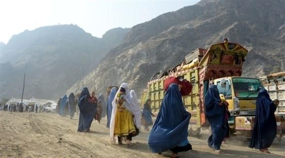 نازحون أفغان (أرشيف)