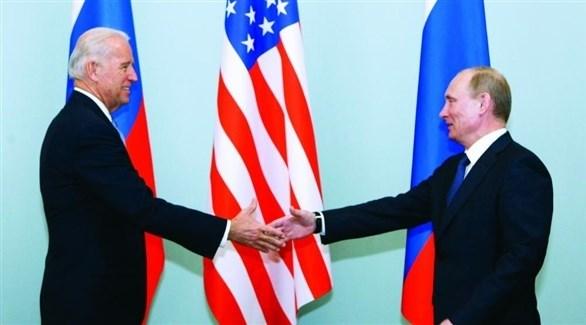 الرئيس الروسي فلاديمير بوتين ونظيره الأمريكي جو بايدن (أرشيف)