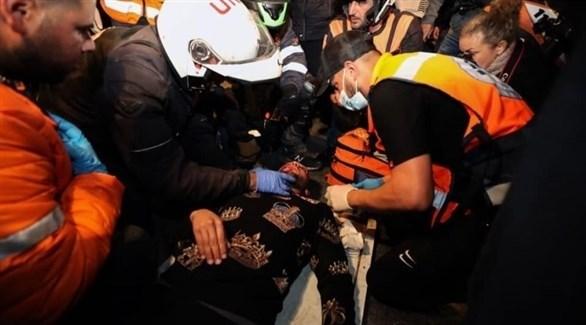 عملية اسعاف الجرحى في فلسطين (أرشيف)