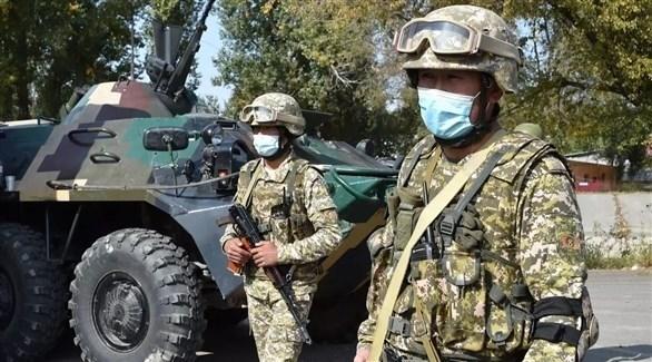 جنود قيرغيز على الحدود مع طاجيكستان (أرشيف)