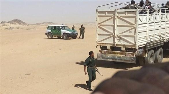 عناصر أمنية على الحدود بين النيجر والجزائر (أرشيف)