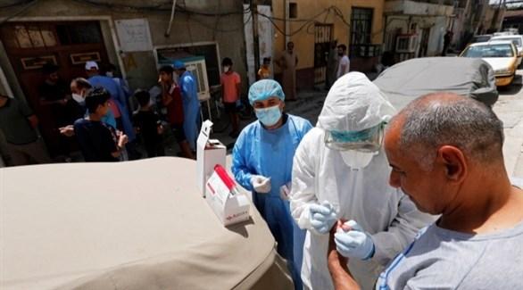 فحوصات للكشف عن الاصابة بفيروس كورونا في العراق (أرشيف)
