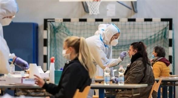 مركز لتقديم اللقاحات المضادة لكورونا في إيطاليا (أرشيف)