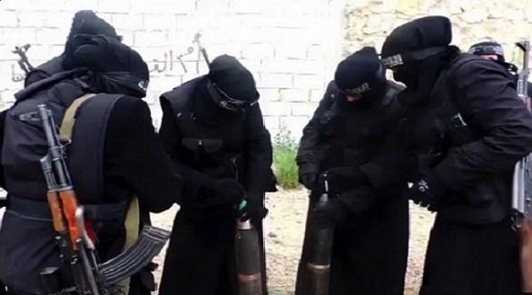 سيدات منتميات إلى داعش في سوريا (أرشيف)