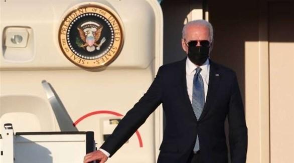 الرئيس الأمريكي لدى وصوله إلى بروكسل للمشاركة في قمة حلف شمال الأطلسي (تويتر)