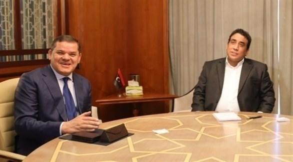 اجتماع تشاوري للمجلس الرئاسي ورئيس حكومة الوحدة الوطنية (تويتر)