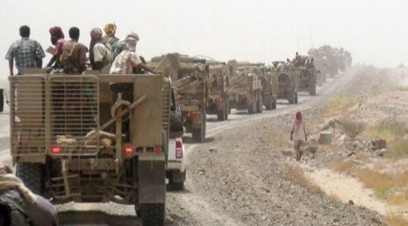 قافلة عسكرية للجيش الوطني اليمني (أرشيف)