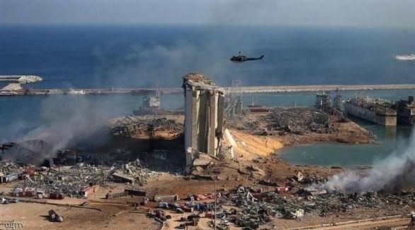آثار الدمار في محيط مرفأ بيروت بعد الانفجار  (أرشيف)