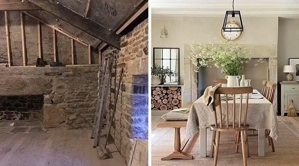 صور مذهلة لتحول الكوخ المتهالك لمنزل عصري (ديلي ميل)