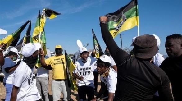 تظاهرات داعمة لرئيس جنوب إفريقيا السابق جاكوب زوما (أرشيف)