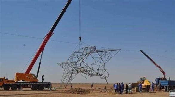 برج كهرباء تعرض لعمل تخريبي في العراق (أرشيف)
