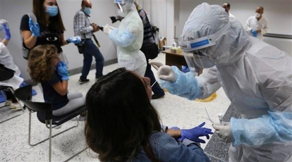 مركز لإجراء فحوصات كورونا في لبنان (رويترز)