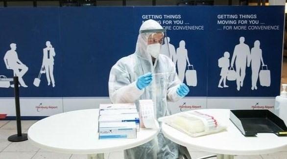 أحد مراكز الفحص للكشف عن فيروس كورونا في ألمانيا (أرشيف)