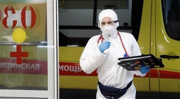 عامل صحي في إحدى المستشفيات الروسية (أرشيف)