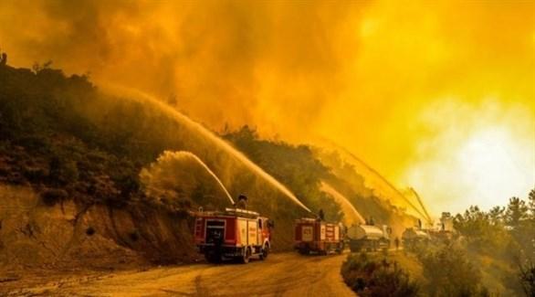 من الحرائق التي شهدتها تركيا أخيراً (أرشيف)