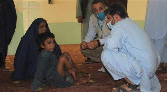 أفغان في مركز طبي لمنظمة الصحة العالمية (أرشيف)