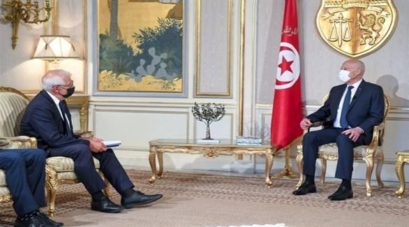 ممثل الاتحاد الأوروبي خلال لقاء الرئيس التونسي (الشروق التونسية)