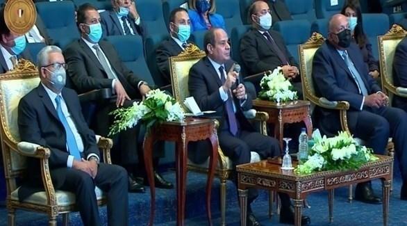 الرئيس المصري عبد الفتاح السيسي خلال إطلاق استراتيجية حقوق الإنسان (أرشيف)