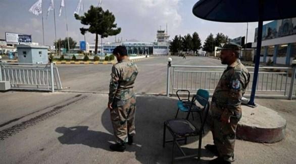 عناصر الشرطة الأفغانية في مطار كابول (أرشيف)