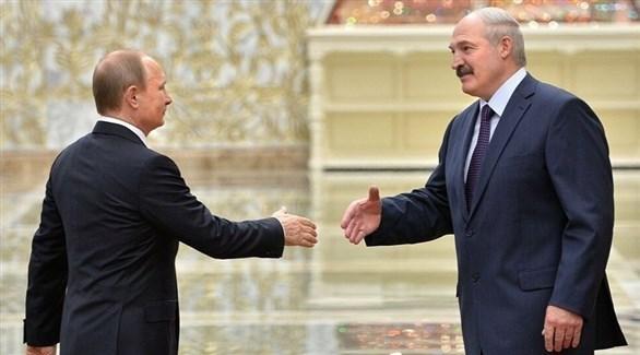 الرئيسان البيلاروسي ألكسندر لوكاشينكو والروسي فلاديمير بوتين (أرشيف)
