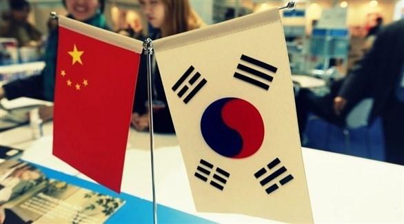 علما كوريا الجنوبية والصين (أرشيف)